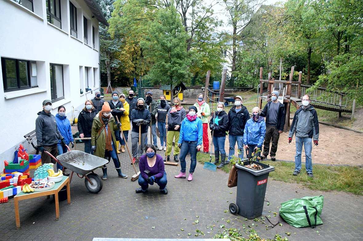 Sauber-Zauber-Tag am Familienzentrum Kindergarten am Wiemhof