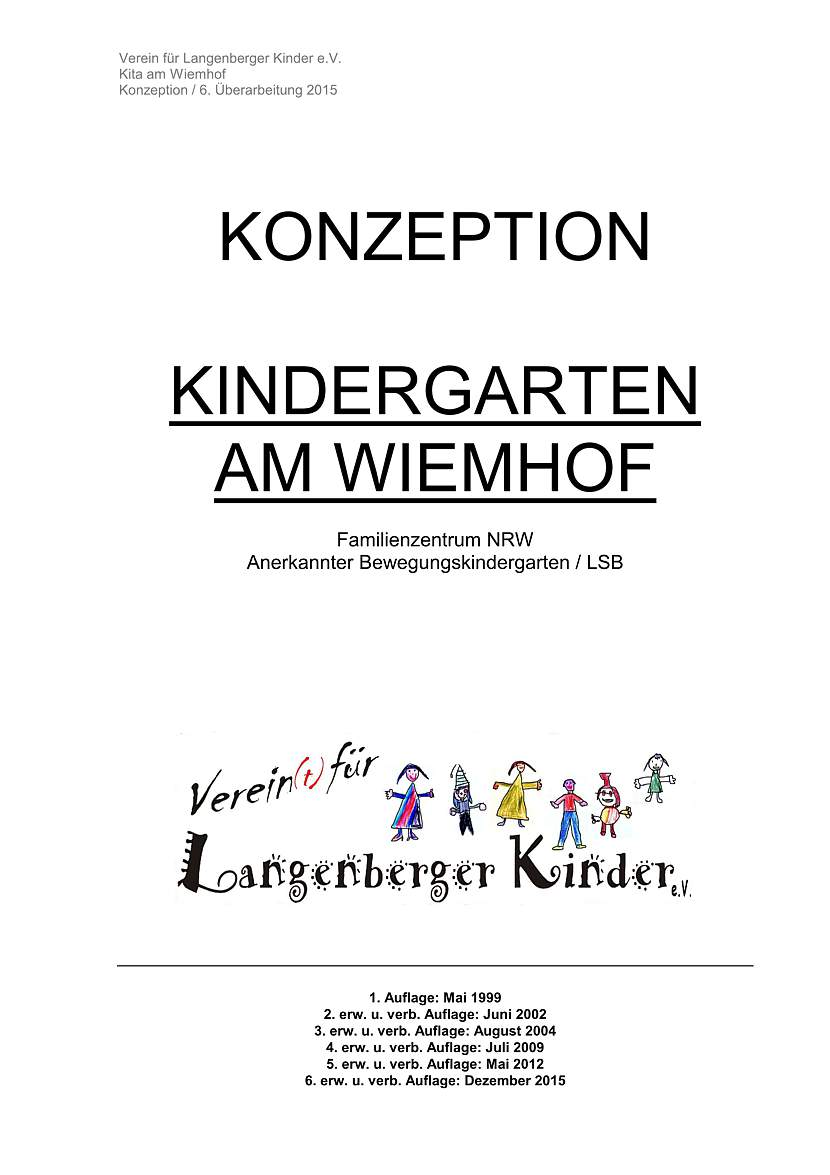 Download der Konzeption des Kindergartens am Wiemhof